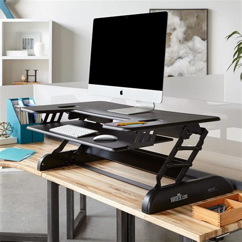 sit stand desk adapter height adjustable standing desks varidesk sit to stand desks