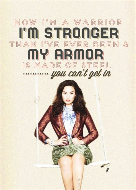 what is demi lovato s warrior song about warrior demi lovato lyrics quotes pinterest the