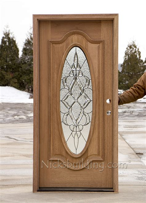 Oval Glass Front Entry Door Oval Glass Exterior Mahogany Doors Cl 106