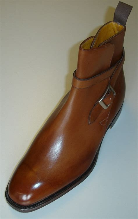 handmade mens jodhpurs brown ankle high leather boots