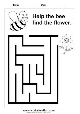 printable insect mazes preschool maze printable worksheets pinterest maze