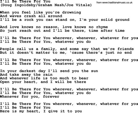 i ll be there for you by the byrds lyrics with pdf