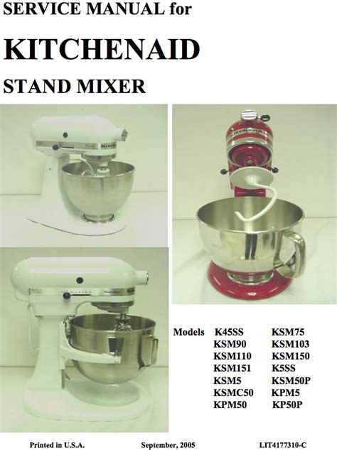Kitchenaid Mixer Maintenance Manual Pdf ? Besto Blog