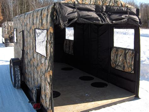 All Season Awnings Ice Fish Early Amp Stay Late In The All Season Sport Trailer