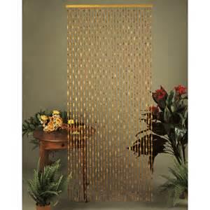 rideau de porte en et olives bois 90 x 200 cm