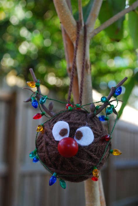 Handmade Balls Ornaments - yarn santa rudolph snowman ornaments by kristin
