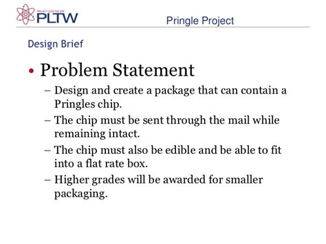 design brief and problem pringles 2