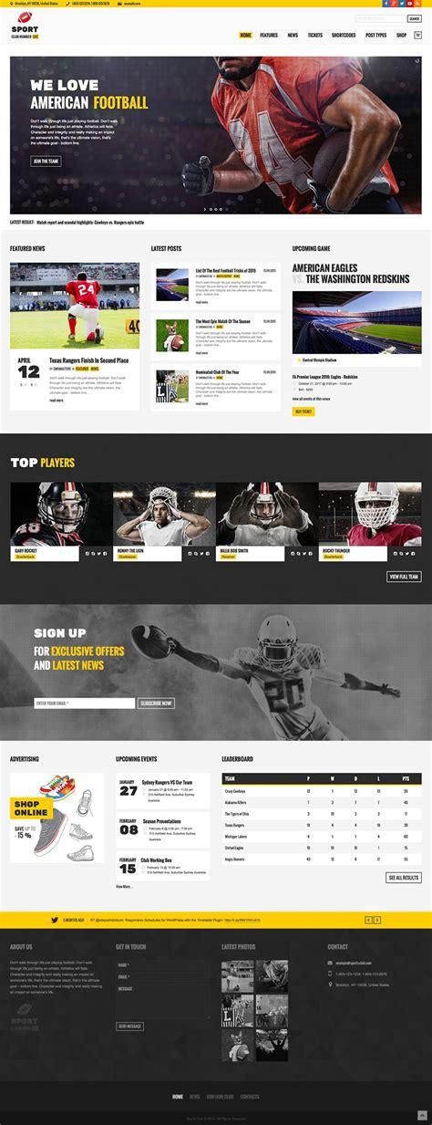 themes wordpress sport sports club team news wordpress theme wpexplorer