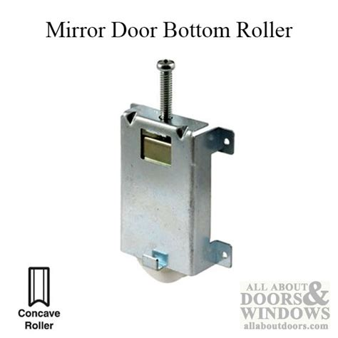 Closet Door Rollers Bottom by Externally Mounted Bottom Roller Closet Door Rollers