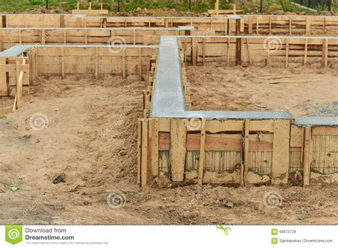what is the foundation of a house new house foundation construction stock photo image
