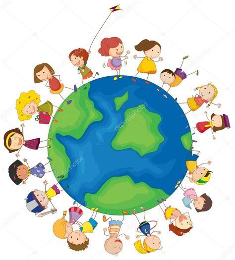 imagenes niños tercer mundo ni 241 os alrededor del mundo archivo im 225 genes vectoriales