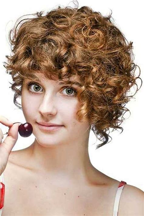 rounded hairstyles best curly short hairstyles for round faces short