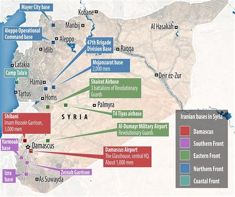 map iran syria leaked intelligence reveals iranian spymasters hq in