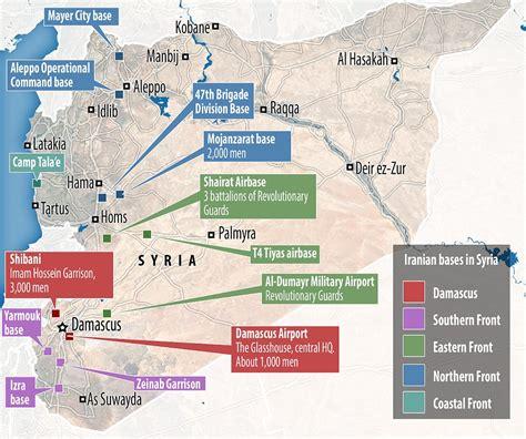map of iran and syria wurde die iranische beteiligung am krieg in syrien bisher