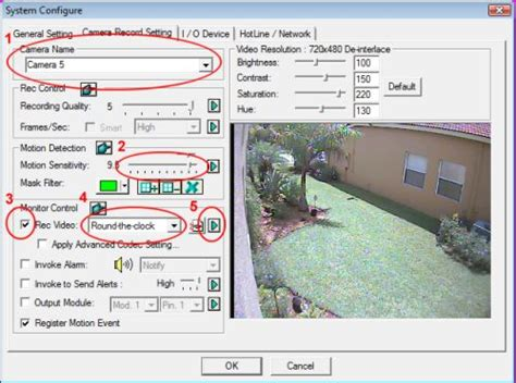 motion detection software geovision motion detection recording