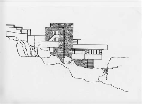 falling water floor plan pdf frank lloyd wright waterfall house floor plans