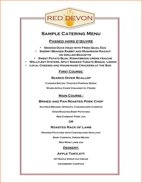 catering menu template free catering menu template free 28 images restaurant menu
