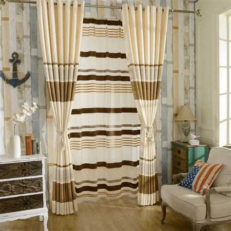 beautiful curtains for bedroom beautiful brown beige chenille striped curtains for bedroom