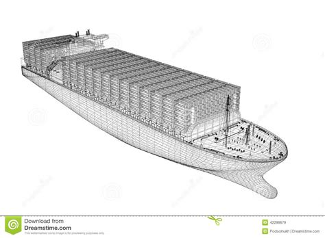 Room Modeling Software container ship cargo stock illustration image of front