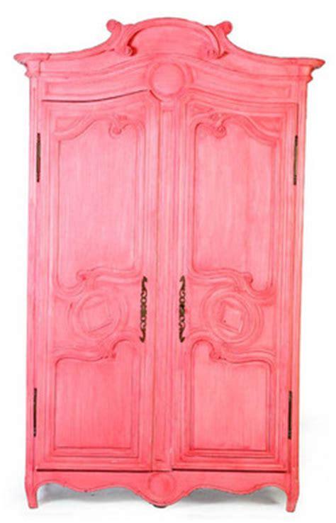 furniture wardrobe armoire provincial oak pink