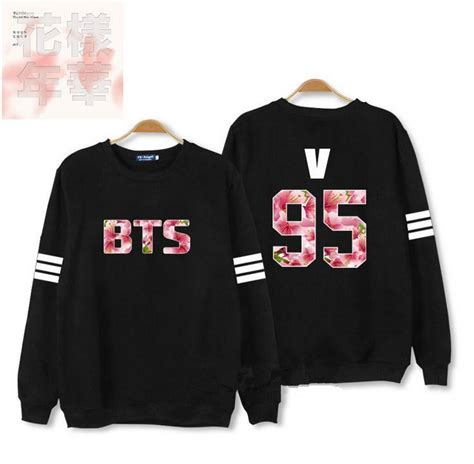 Hoodie Sweater Jumper Biru Jungkook new arrival kpop bangtan boys sweater bts in bloom