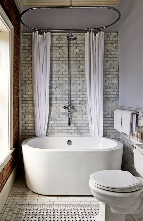 freestanding bath shower curtain 25 best ideas about tub shower combo on pinterest