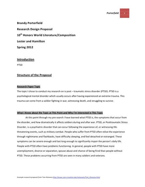 design research proposal template research design template