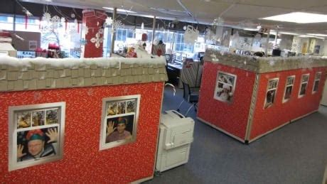 santa workshop cubicles ideas winners announced for decorate your cubicle competition ottawa cbc news