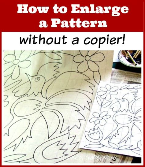 html pattern without form how to enlarge a pattern without a copier