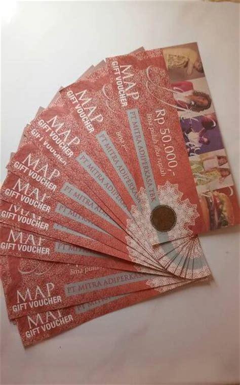 Voucher Map Rp 50000 jual voucher map gift voucher 50000 pt mitra adiperkasa