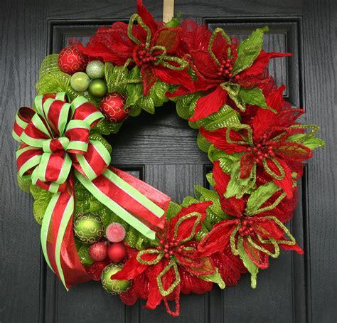 modern traditional christmas deco mesh wreath 149 99
