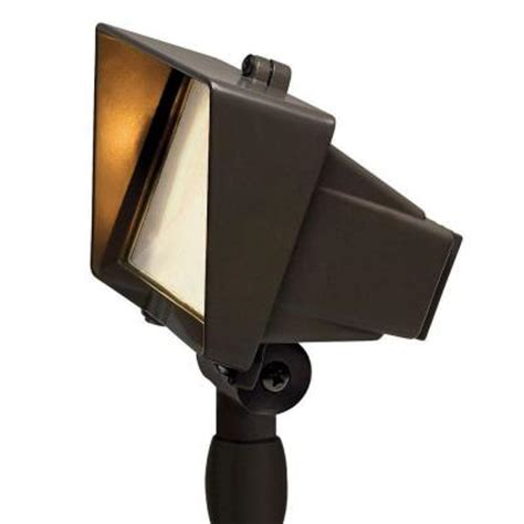 Home Depot Outdoor Flood Lights Hinkley Lighting Low Voltage 50 Watt Bronze Outdoor Flood Light 8521bz The Home Depot