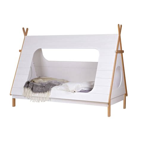 futon kinder tipi cabin bed in solid pine by cuckooland
