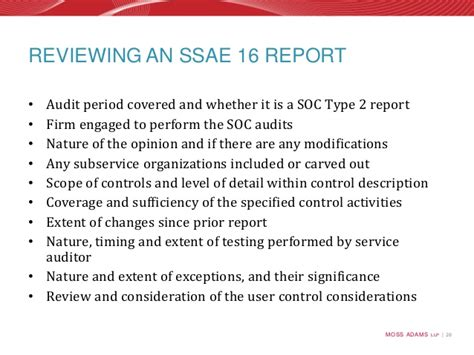 Soc 1 Report Gap Letter Moss Ssae 16 Soc Audits