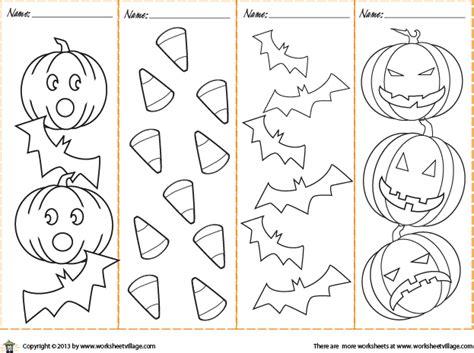printable halloween bookmarks black white colorable halloween bookmarks