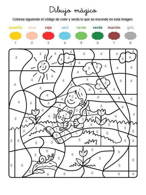 imagenes educativas para imprimir y colorear dibujo m 225 gico de un ni 241 o y gatito dibujo para colorear e