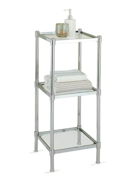 Bathroom Chrome Shelving 17 Best Images About Tower Tiered Shelving On Bath Shelf Storage Shelves And Side