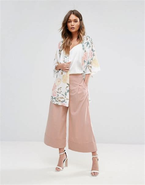 new cullote new look new look turn up culotte trousers