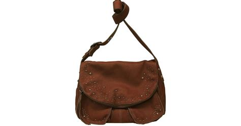Beckham Hobo 9966 1 lucky brand dempsey mini leather crossbody in brown lyst