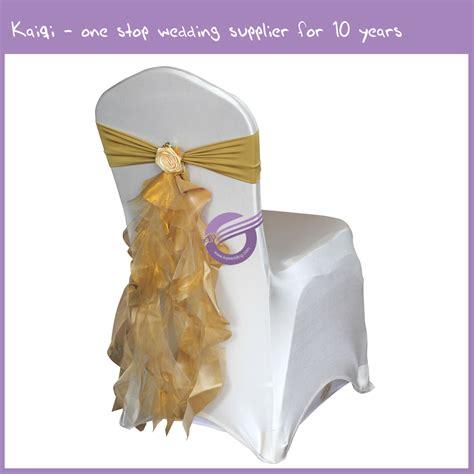 Ruffle Chair Sash by Birthday Wedding Decoration Fancy Ruffle Curly