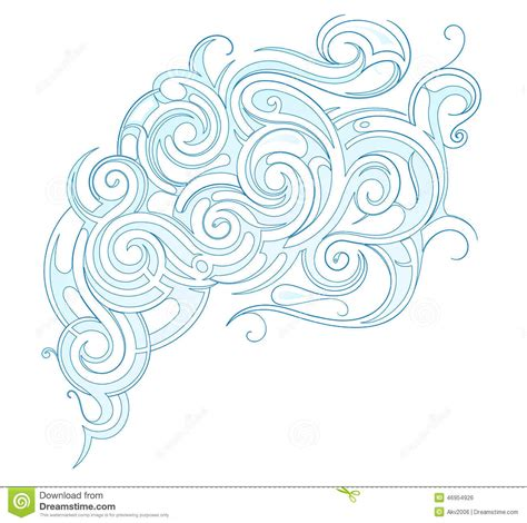 water swirl stock vector image 46954926