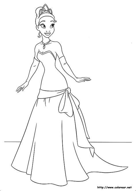 dibujos colorear tiana la princesa el sapo