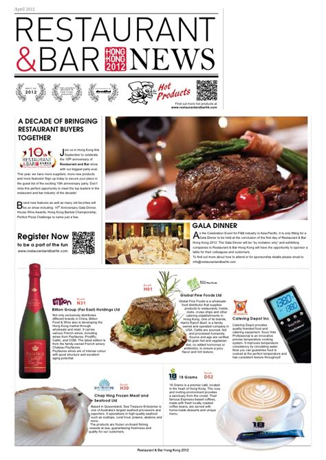 newsletter cuisine restaurant bar hong kong 2012 newsletter