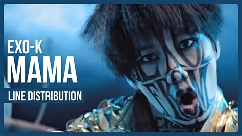 exo m mama with mp3 download youtube exo k mama line distribution color coded youtube