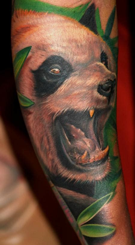 ashley tattoo panda angry panda by tony adamson tattoonow