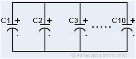 parallel capacitors exle capacitor parallel connection formula 28 images series and parallel capacitors formula