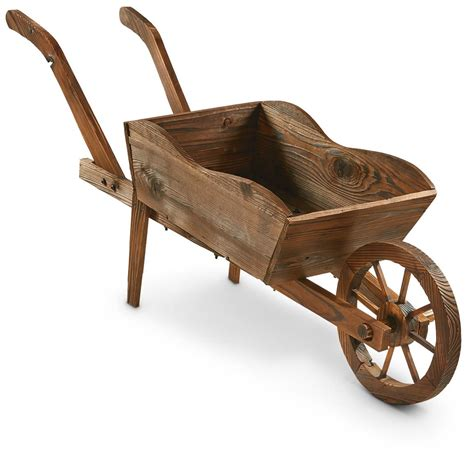 Wooden Cart Planter by Castlecreek Wooden Cart Planter 657793 Decorative