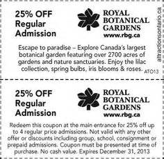 Royal Botanical Gardens Coupon Attraction Coupons 2013 2014 On Times Hockey And Cruises