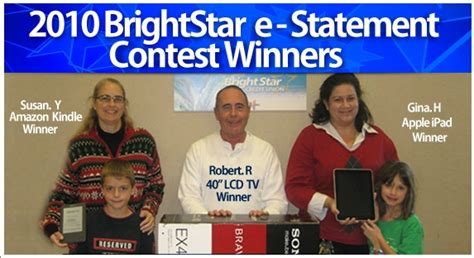Congratulations To Our 2010 E Statement Contest Winners