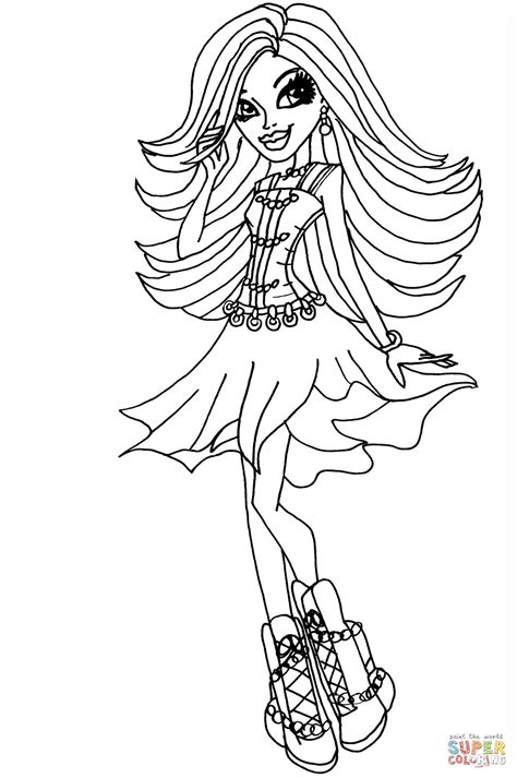 monster high spectra coloring pages monster high printable coloring pages spectra vondergeist